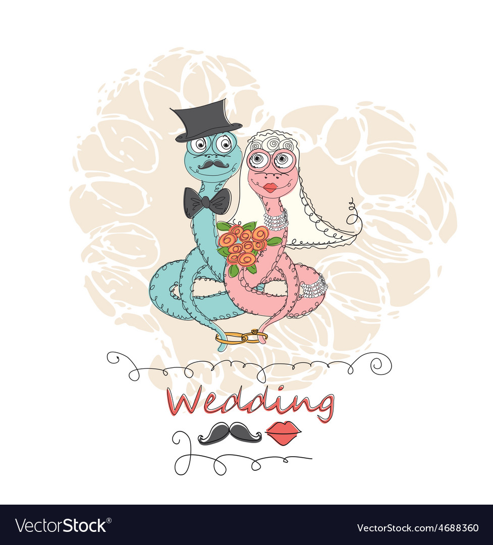 Hand drawing cartoon abstract love and wedding