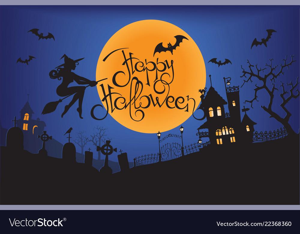 Happy halloween moon