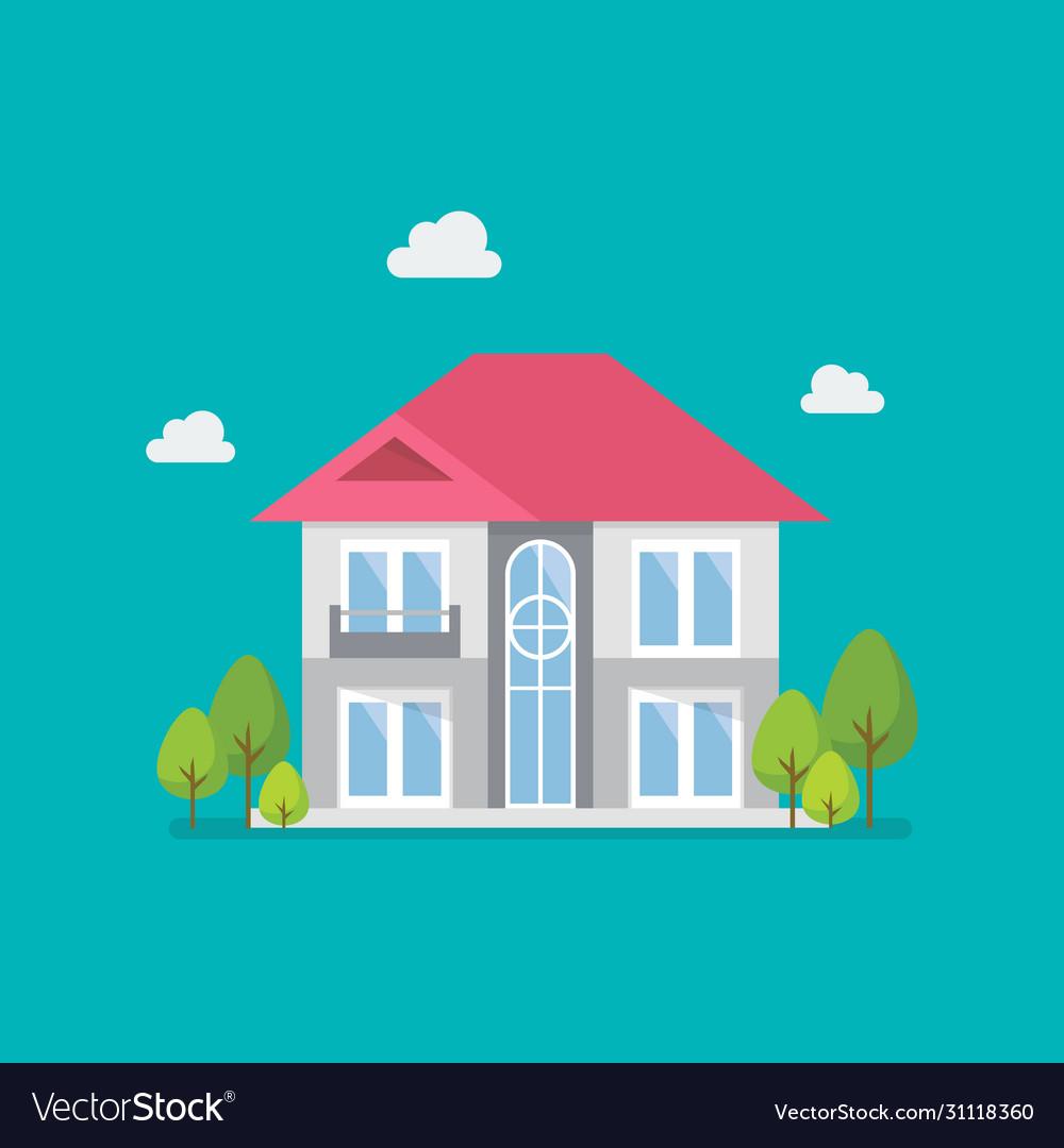 House flat design icon