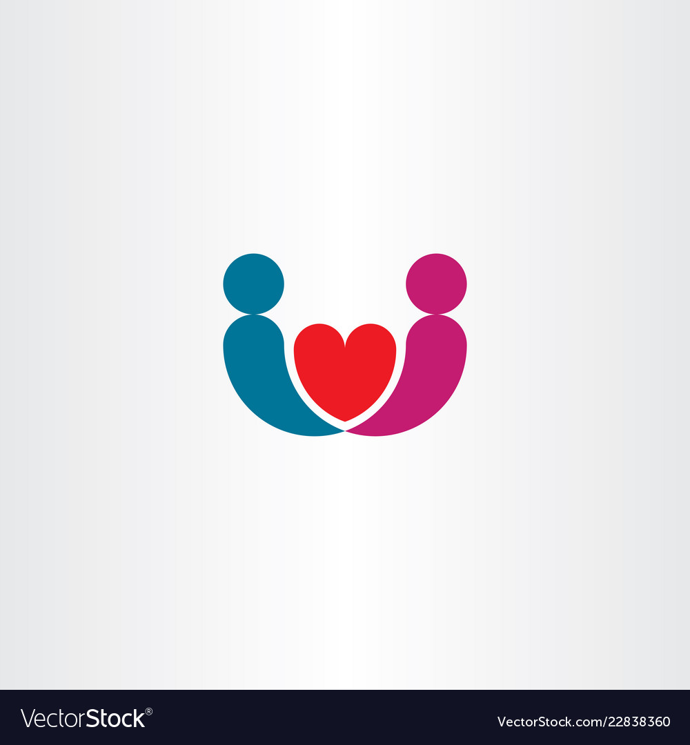 Man and woman marriage logo love icon