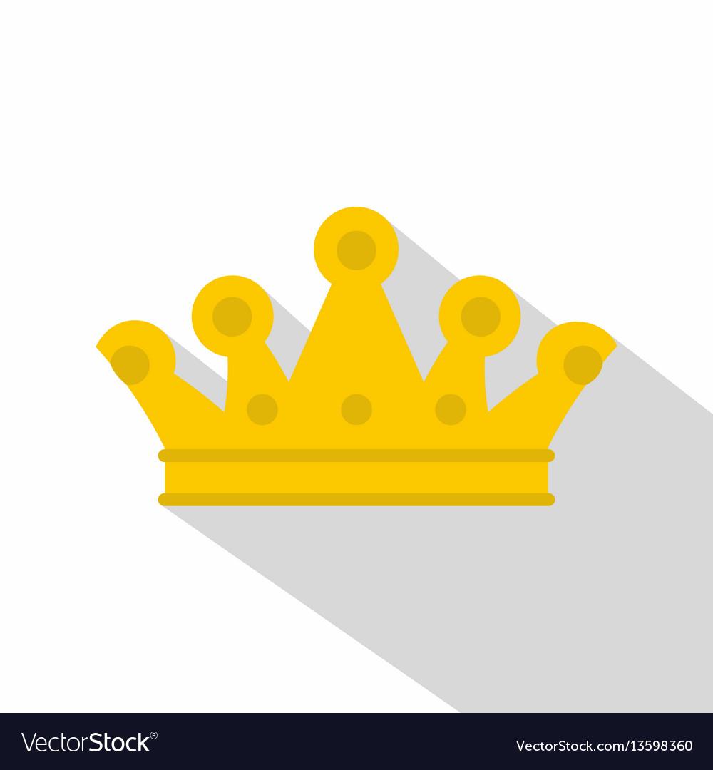 Royal crown icon flat style