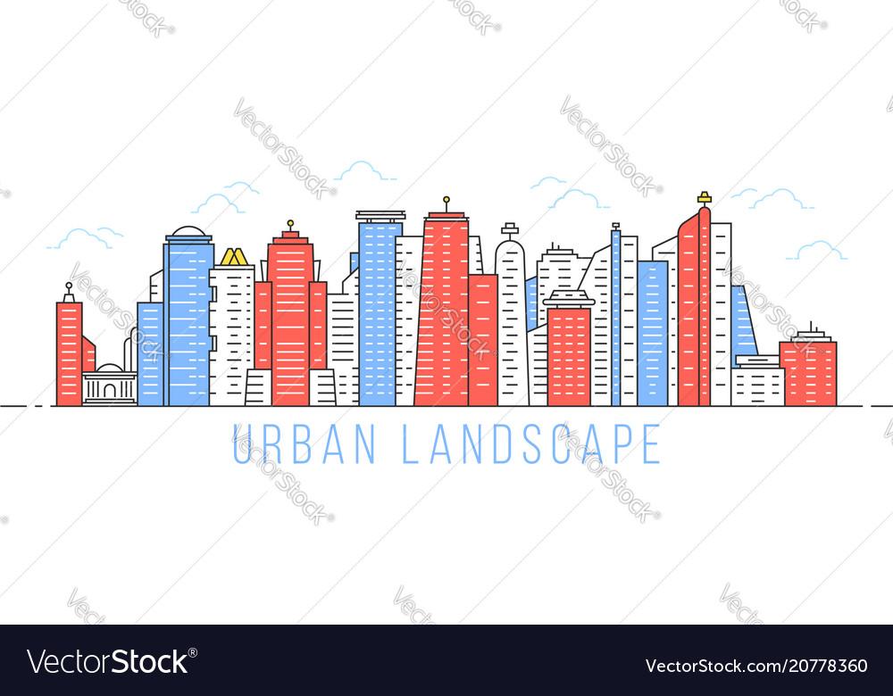 Simple linear urban landscape