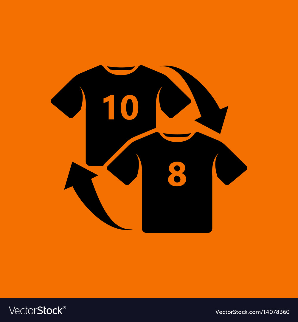 Soccer replace icon Royalty Free Vector Image - VectorStock