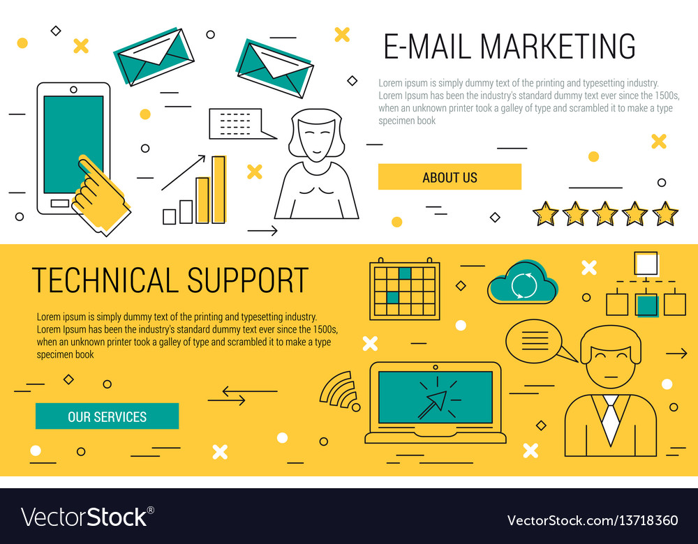 Two thin lines banners - e-mail marketing