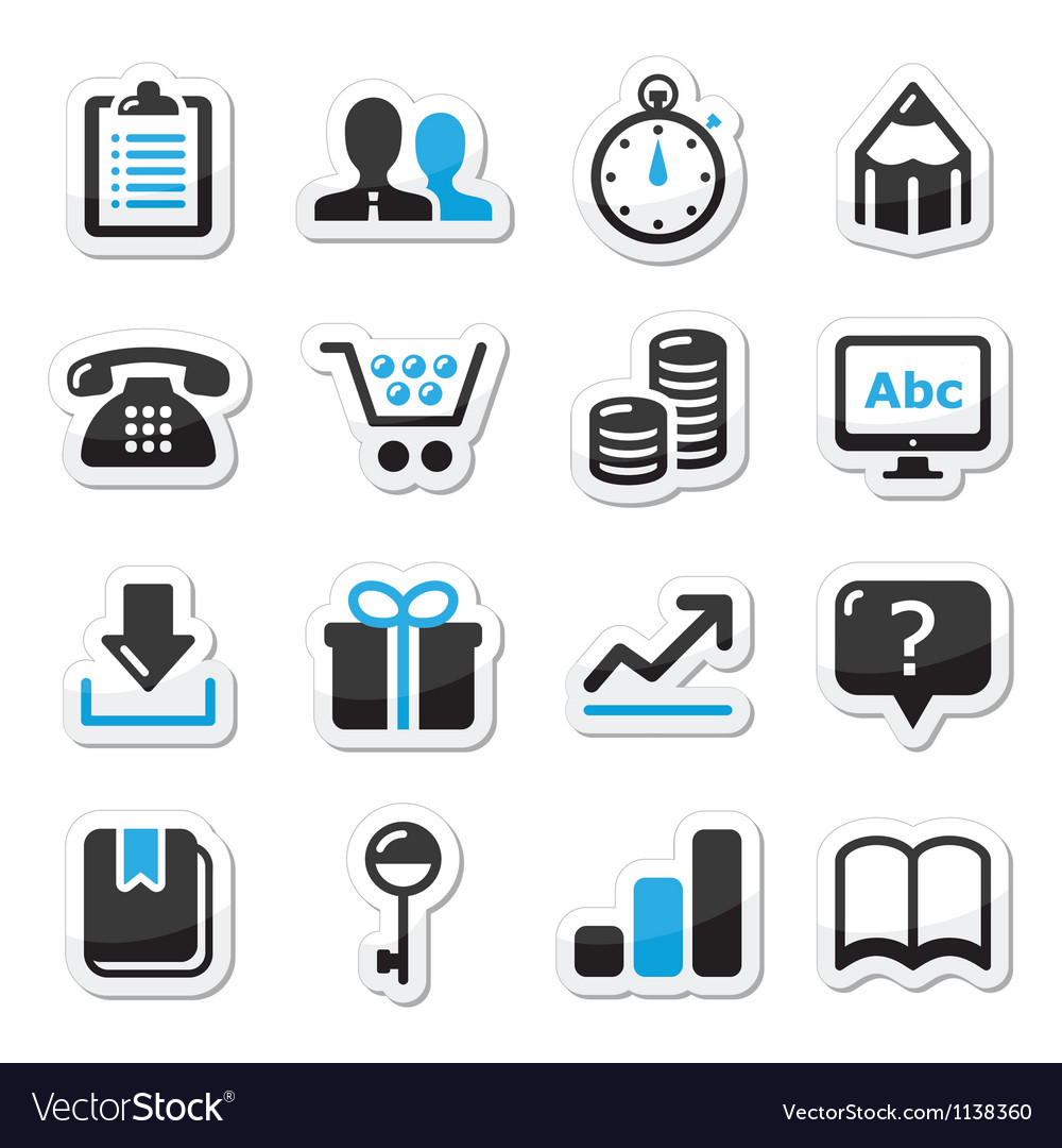 Web internet icons set vector image