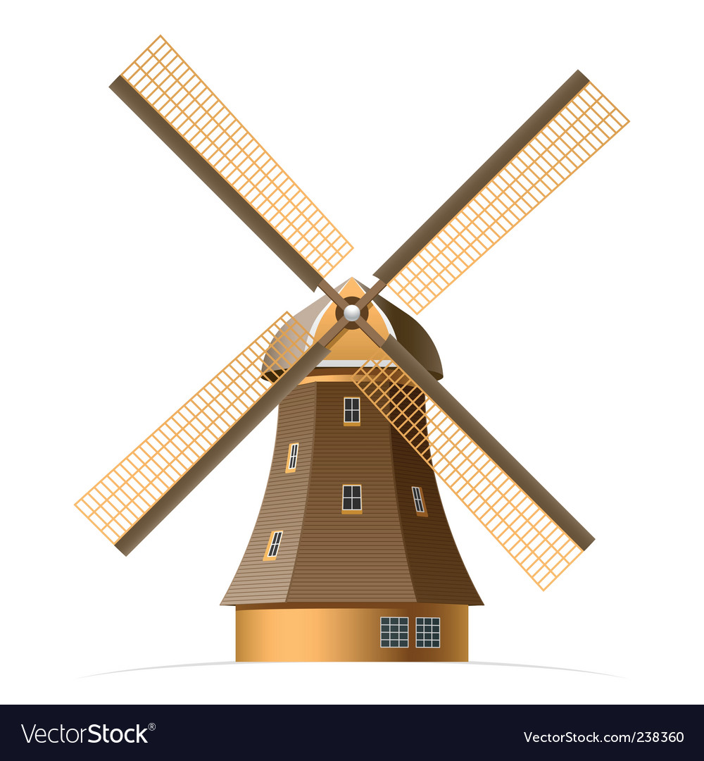 windmill royalty free vector image vectorstock rh vectorstock com windmill vector illustration windmill vector art
