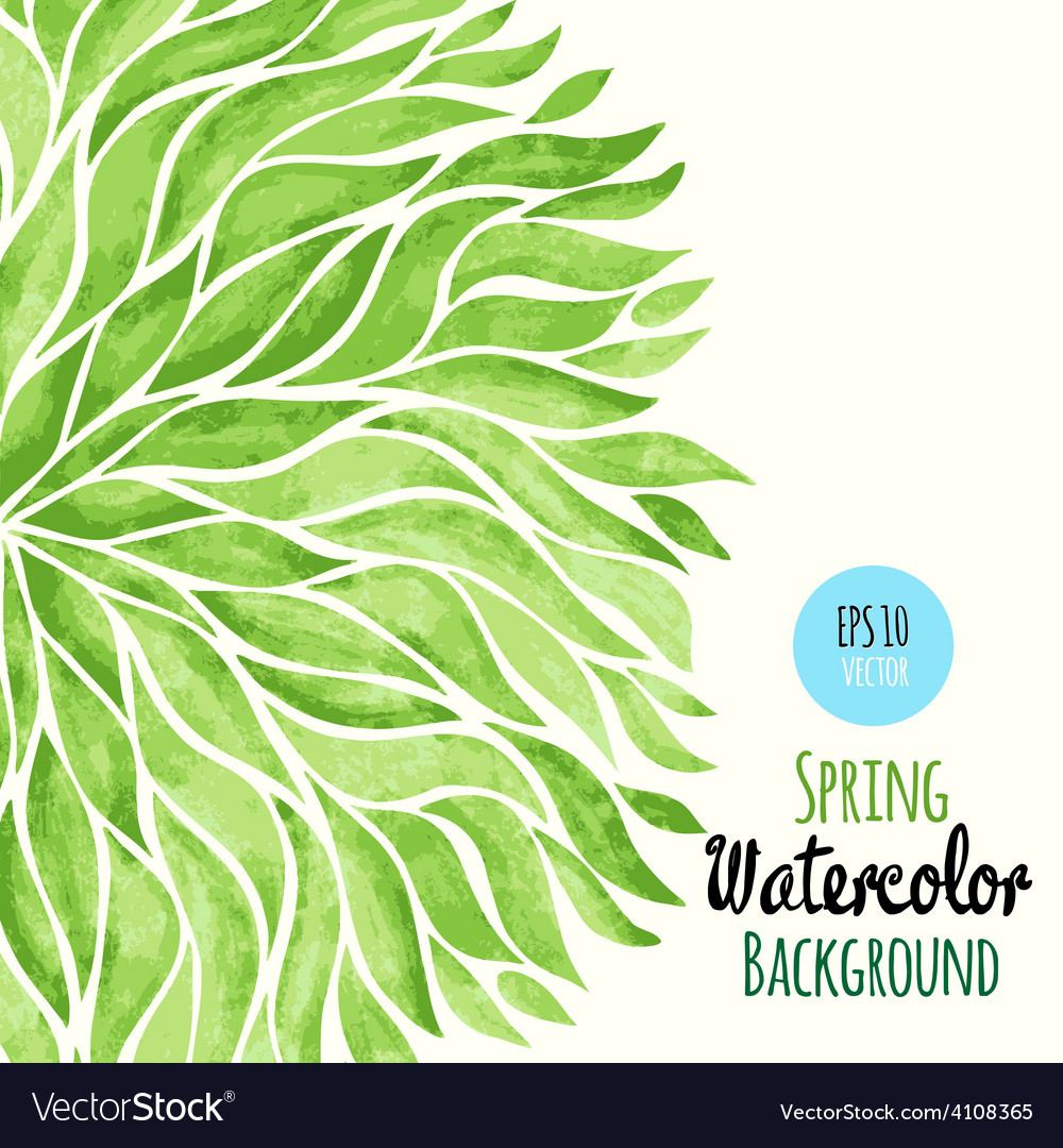 Abstract Watercolor Spring Background