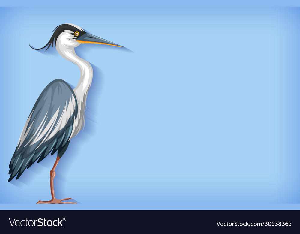 Background template with plain color and heron