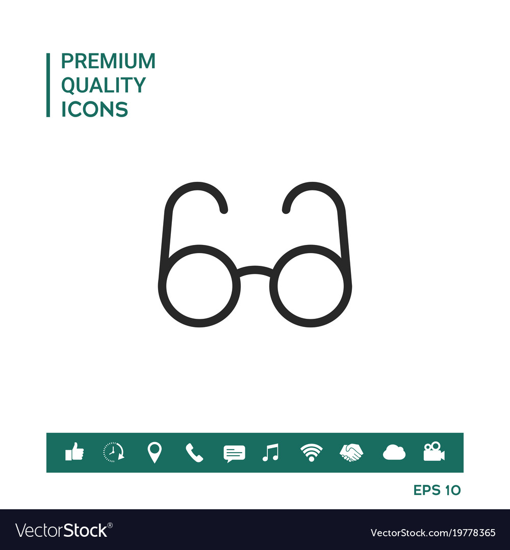 Glasses Symbol Search Icon Royalty Free Vector Image