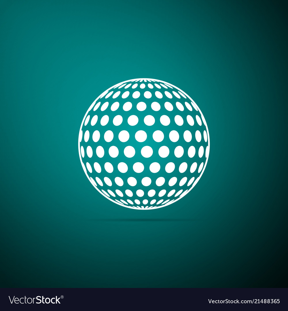 Golf icon isolated on green background