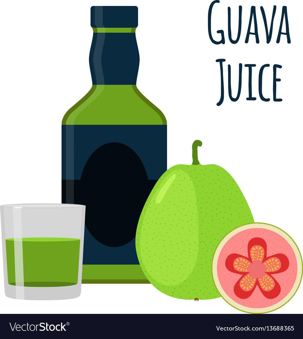 Guava juice fruit alcohol flat style tropical