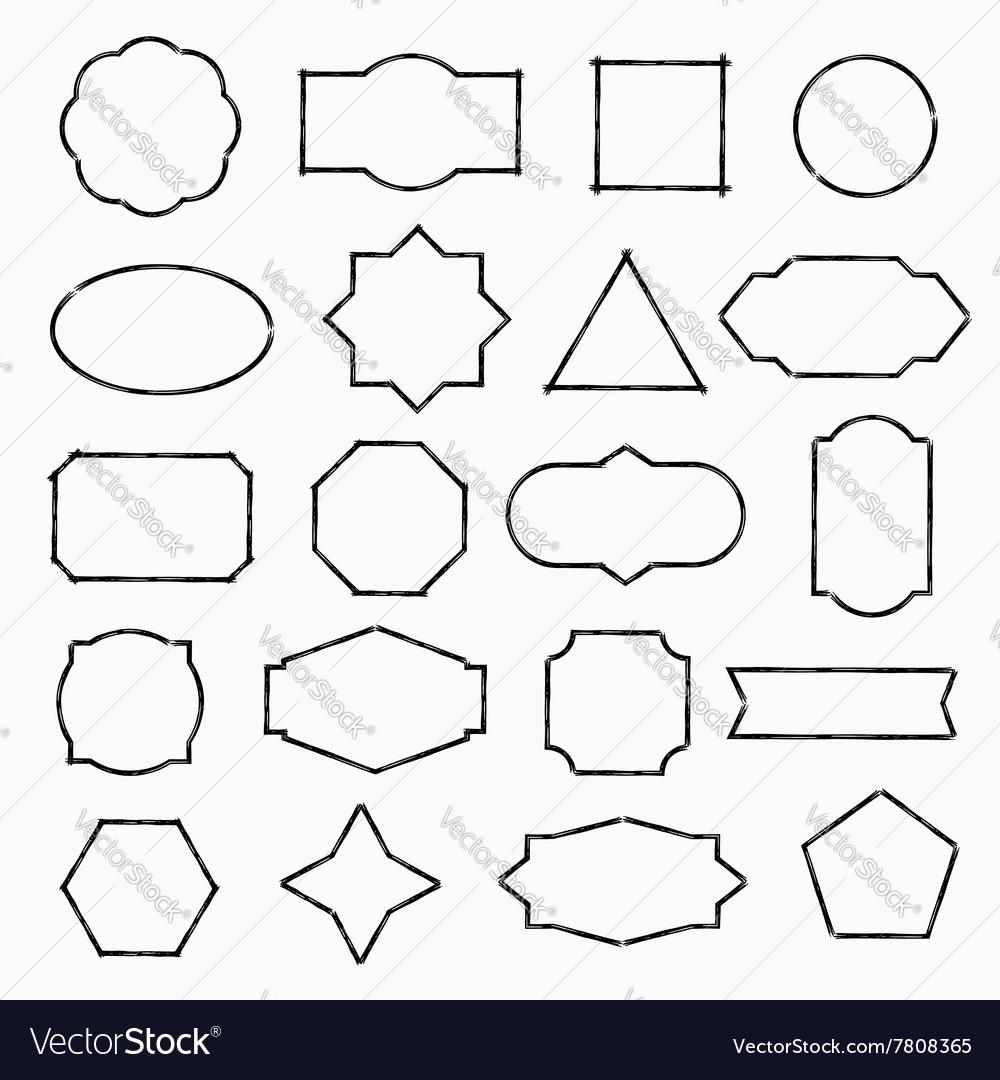 Pencil drawn shapes vector image