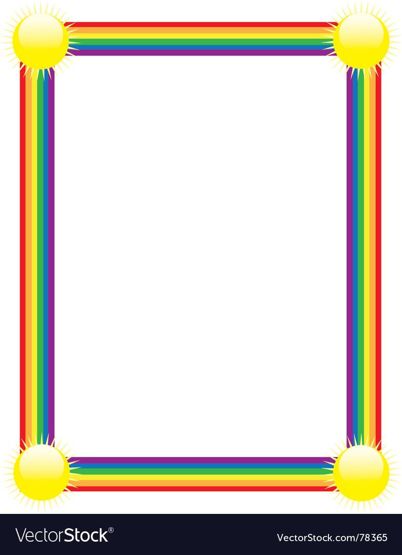 Rainbow border vector image