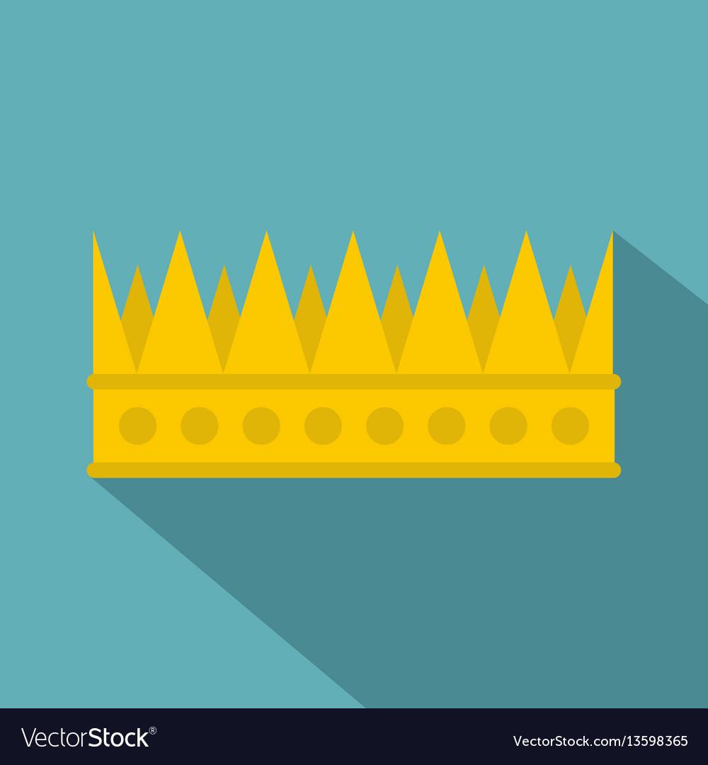 Regal crown icon flat style