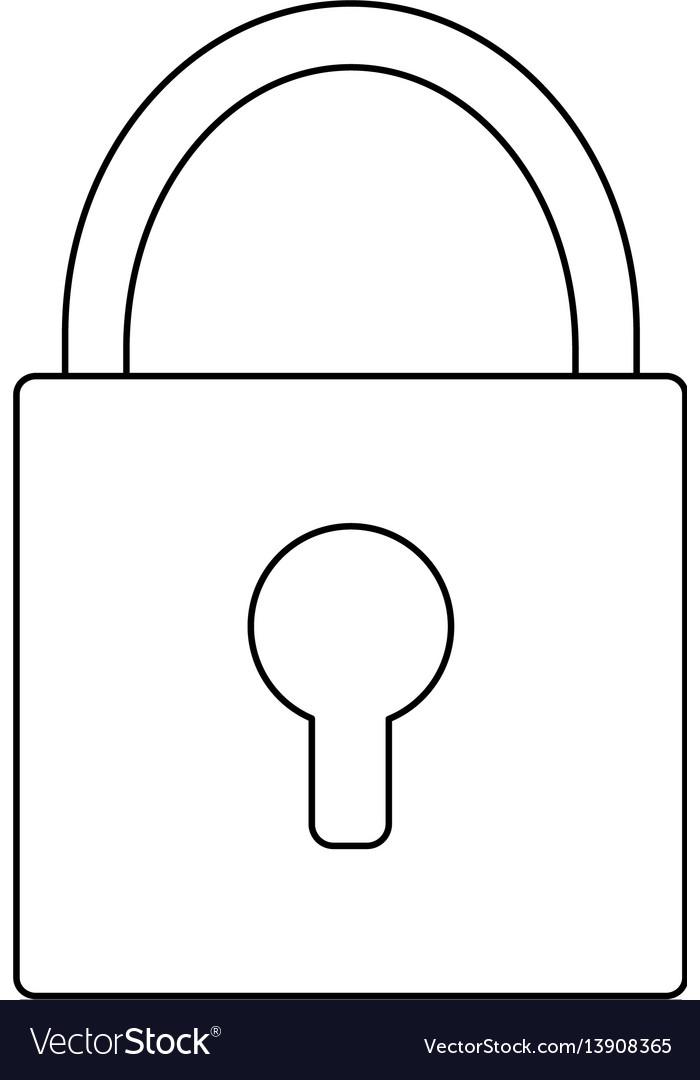 Safety lock icon image