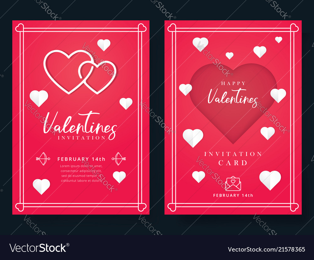 Valentines Day Or Wedding Invitation Royalty Free Vector