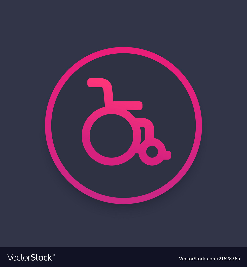 Wheelchair icon sign
