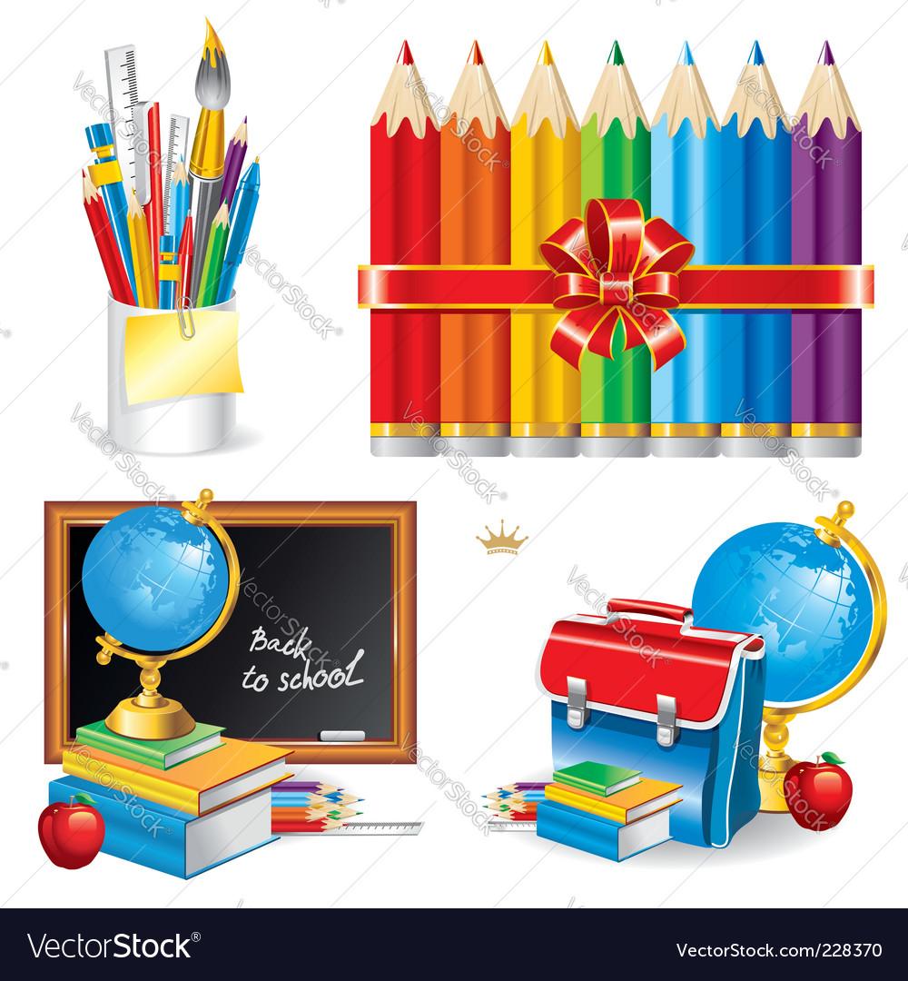 Back to school set illustration vector image