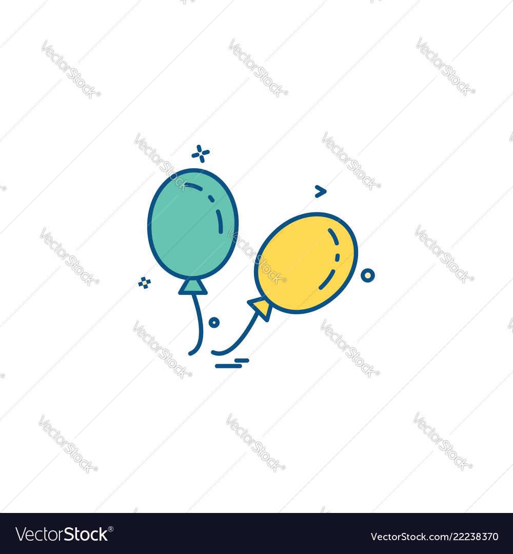 Ballons icon design