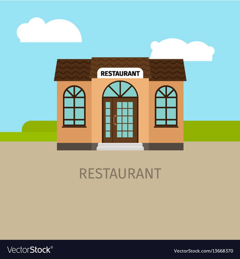 Colored restaurant building