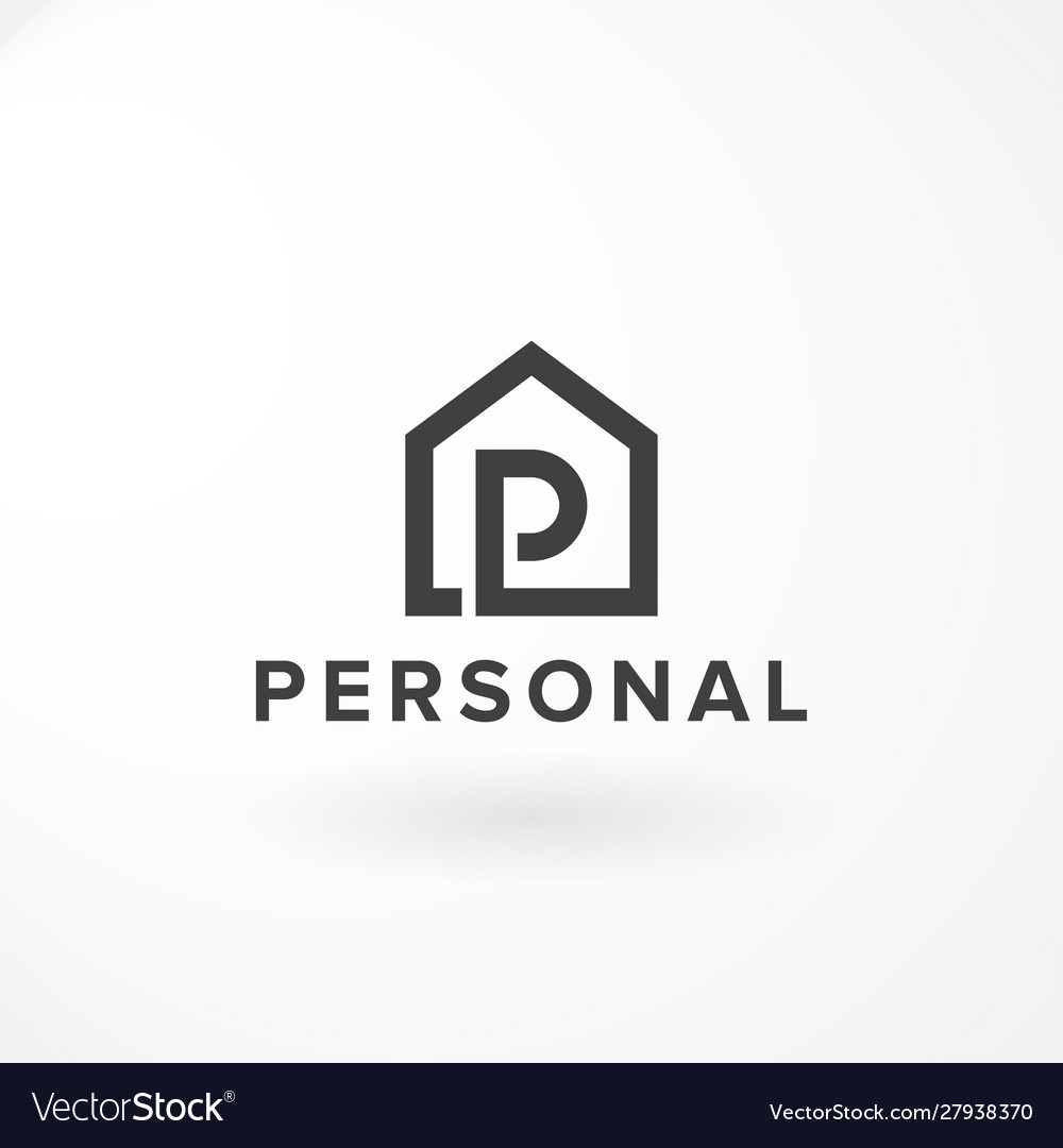 Combination letter p and private house