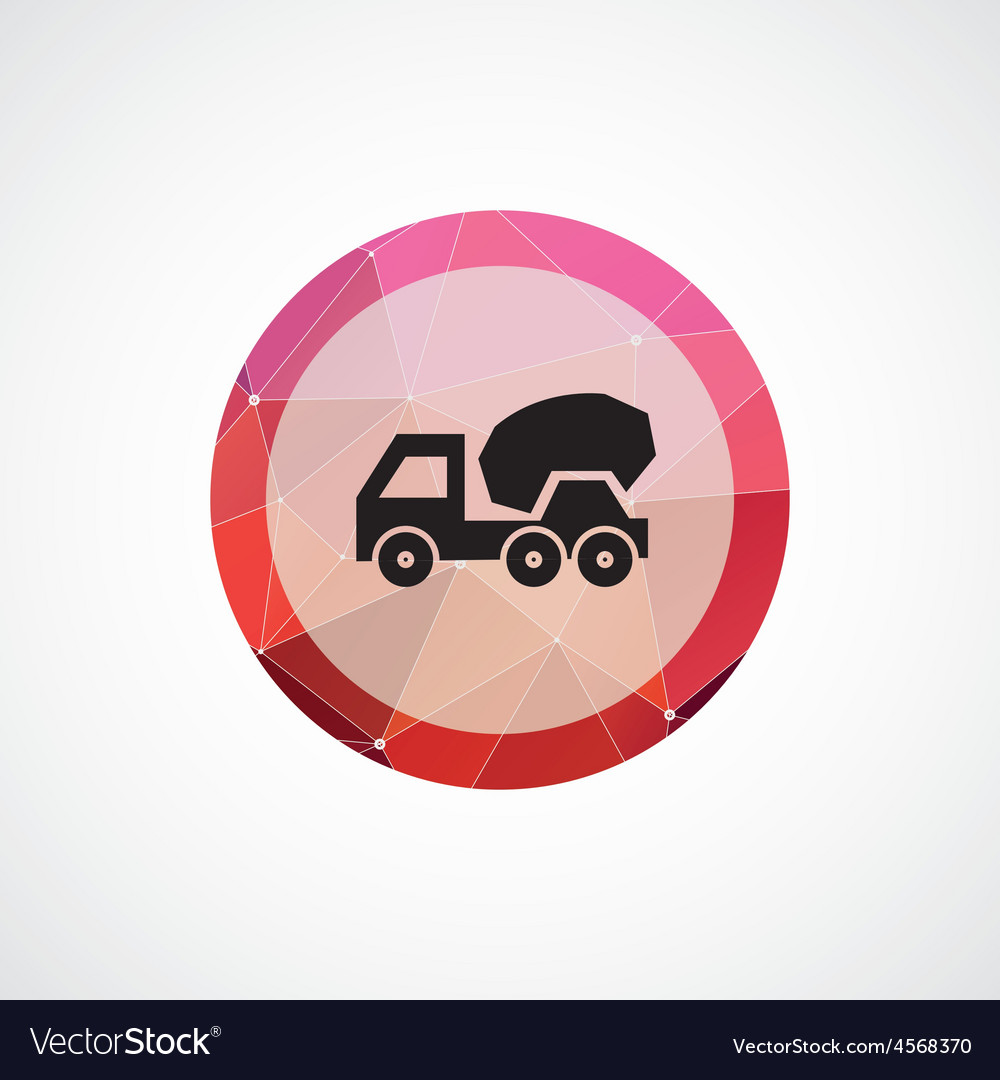 Concrete mixer circle pink triangle background