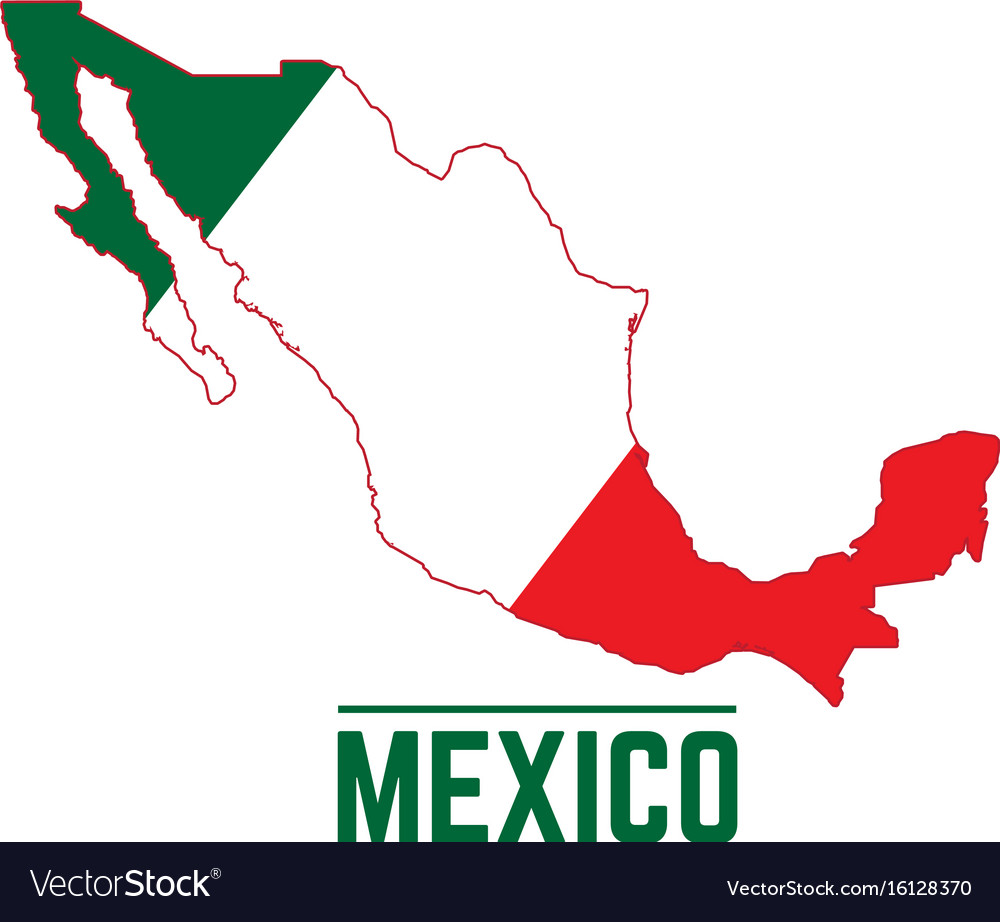 Flag And Map Of Mexico Royalty Free Vector Image