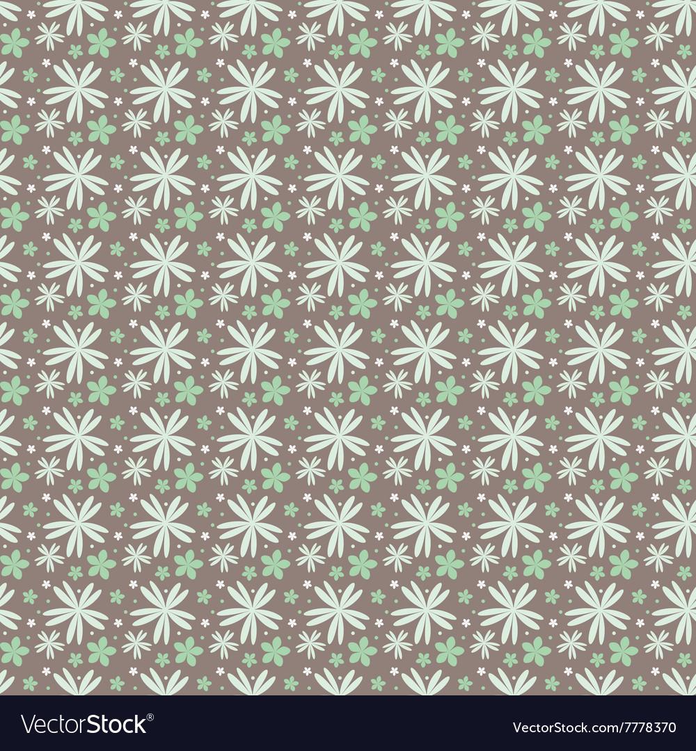 Floral pattern on a dark background in