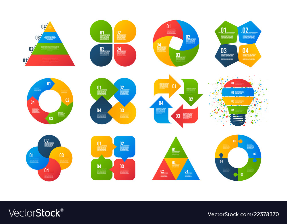 Infographics Templates Business Diagrams Arrows Vector Image