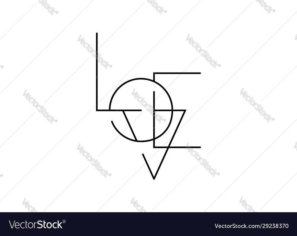 Love line art minimalist text icon valentines logo