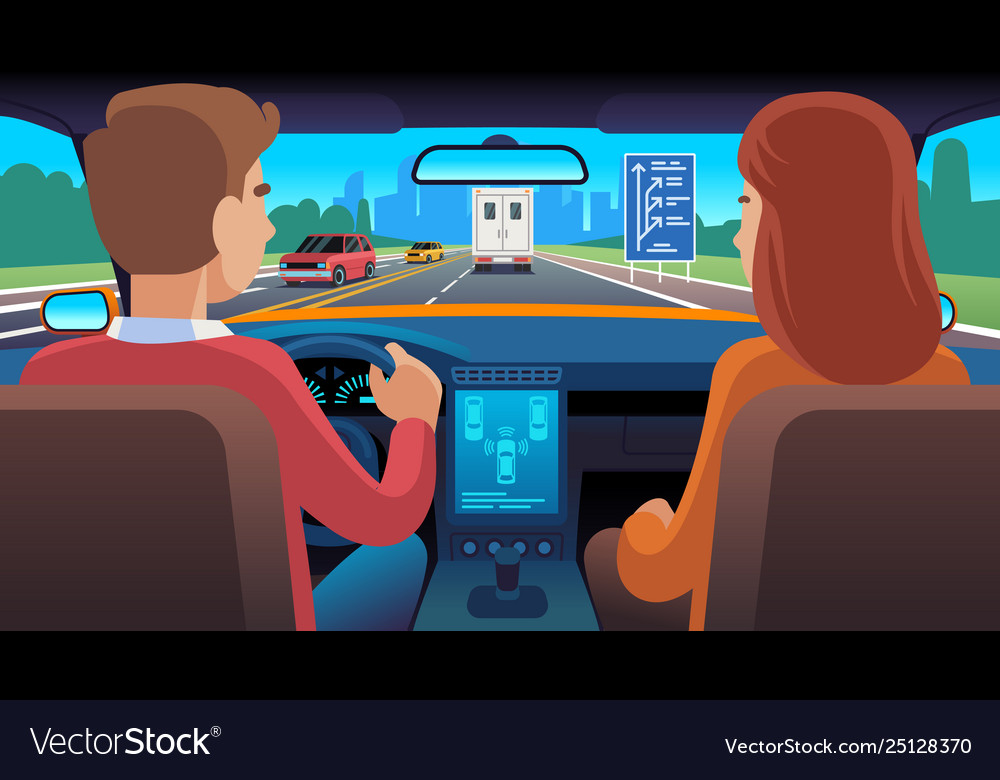 People inside car interior travel driver