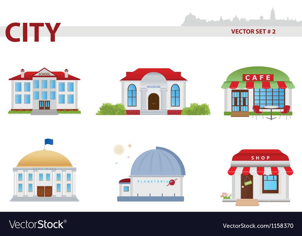 Public building Set 2 vector image