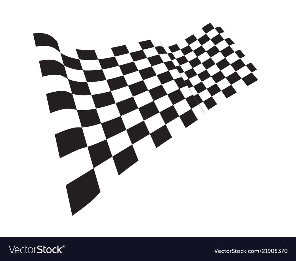 Race flag icon template design
