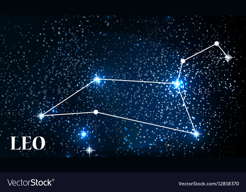 symbol leo zodiac sign royalty free vector image