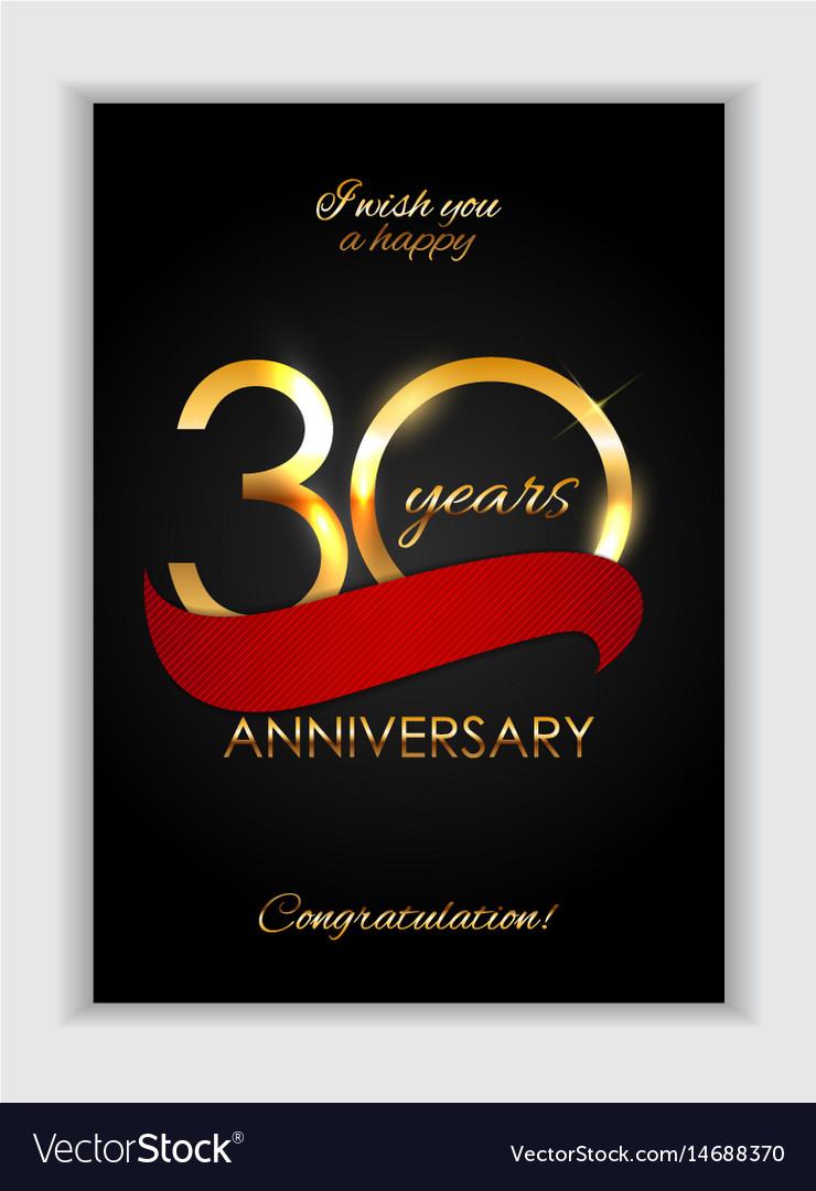 Template 30 years anniversary congratulations