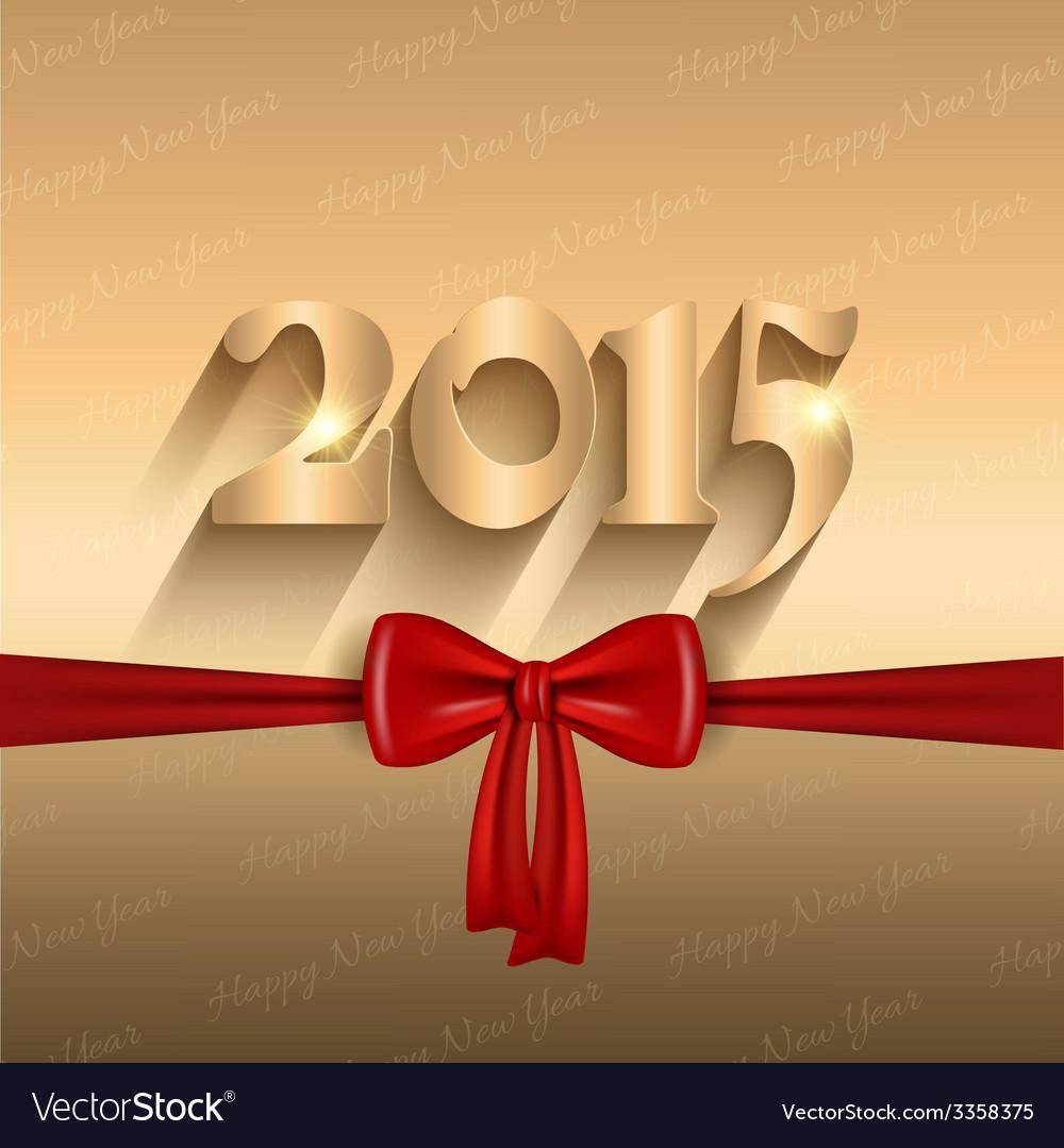 Happy new year ribbon design 2409