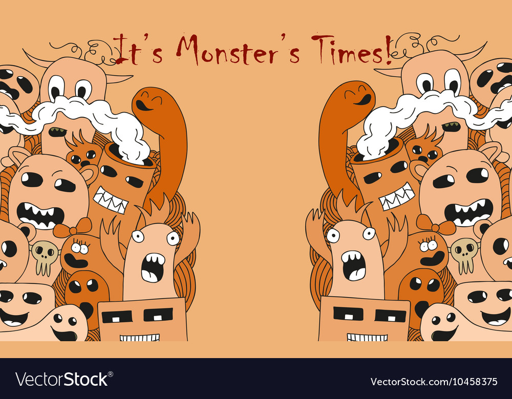 It is monster time Cartoon funny poster