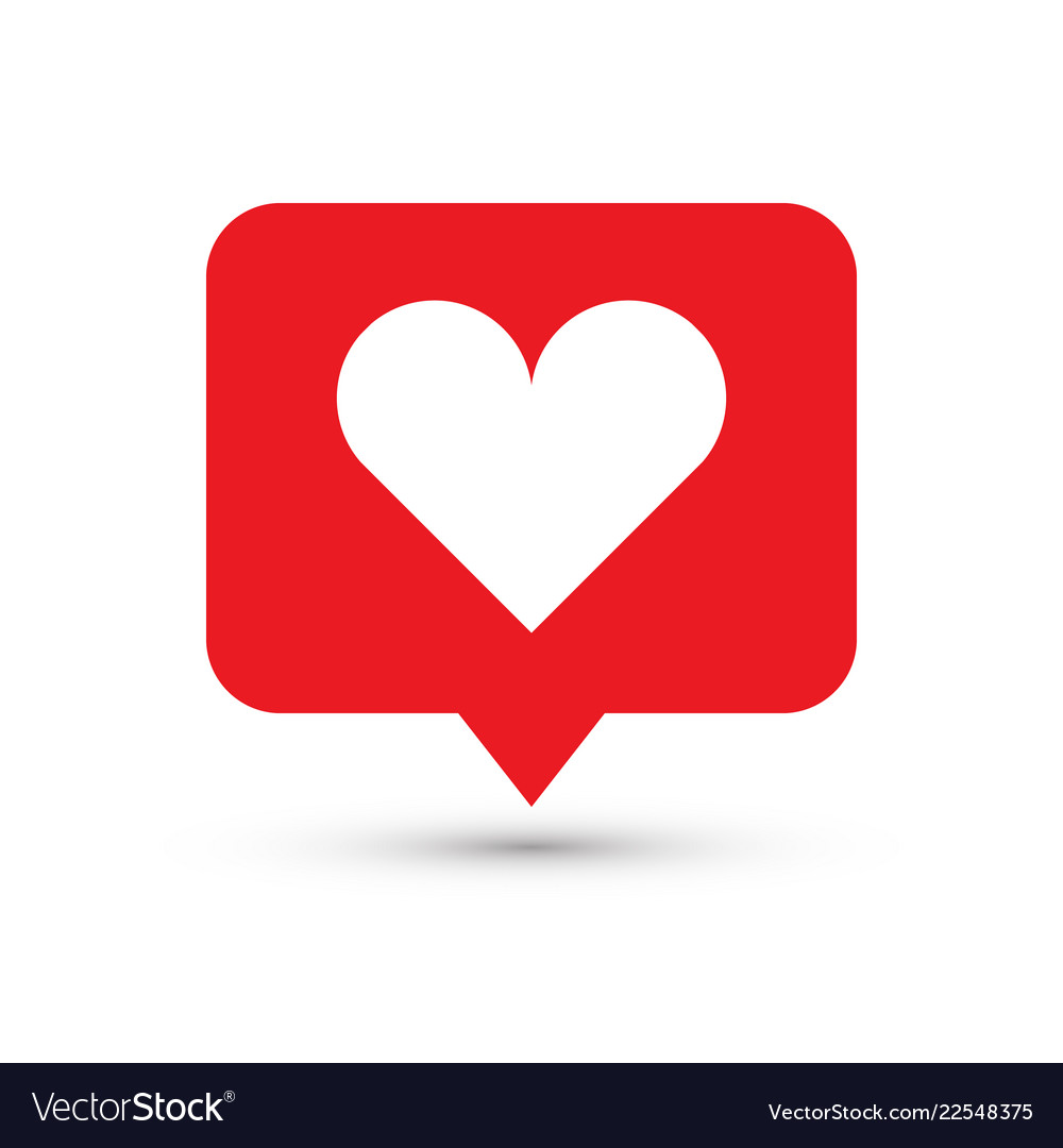 Like heart icon one of set web icons