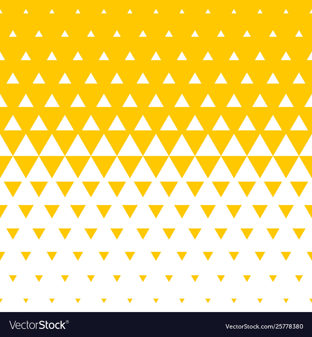 Abstract yellow triangle halftone background