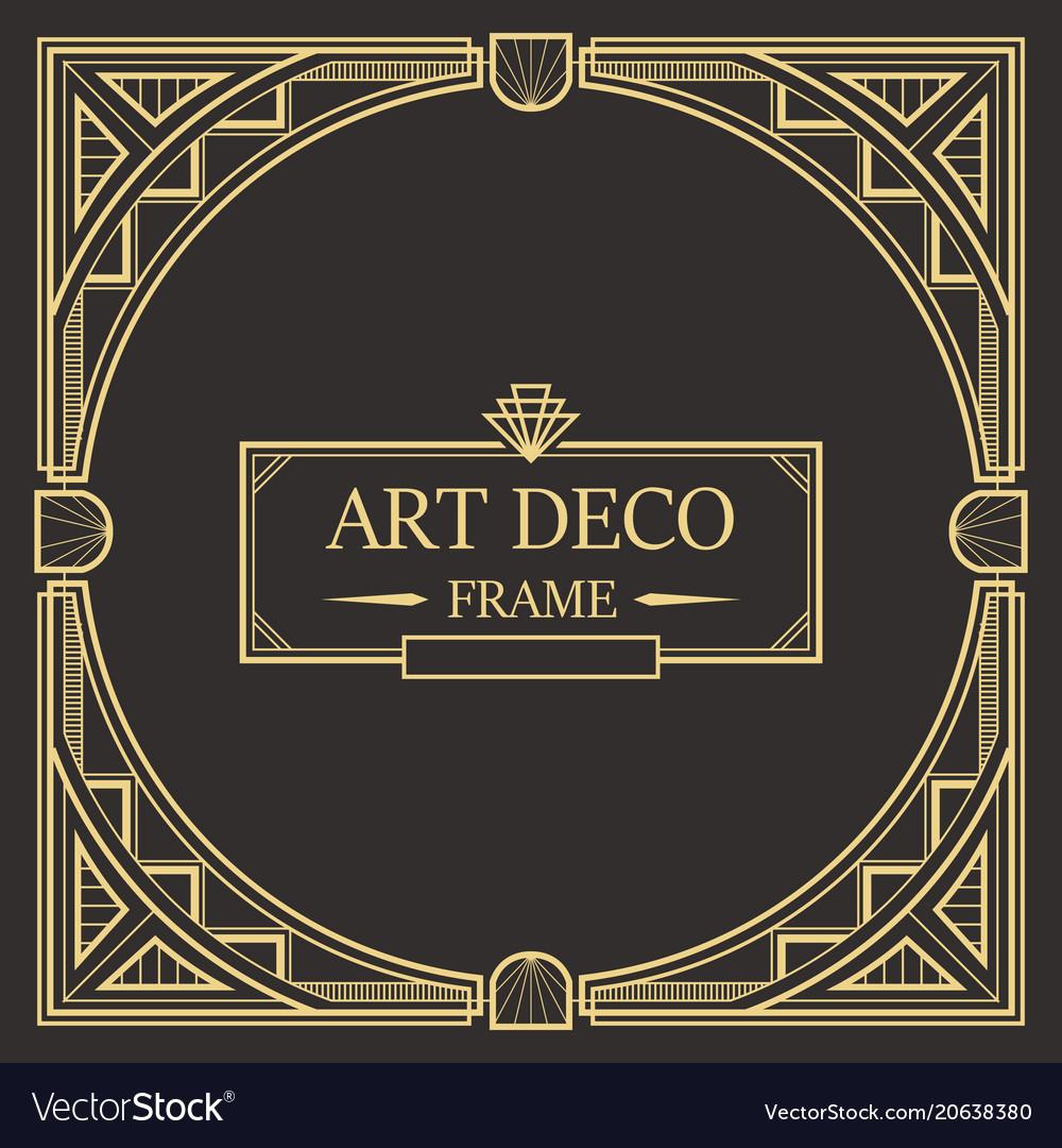 Art deco border frame 01