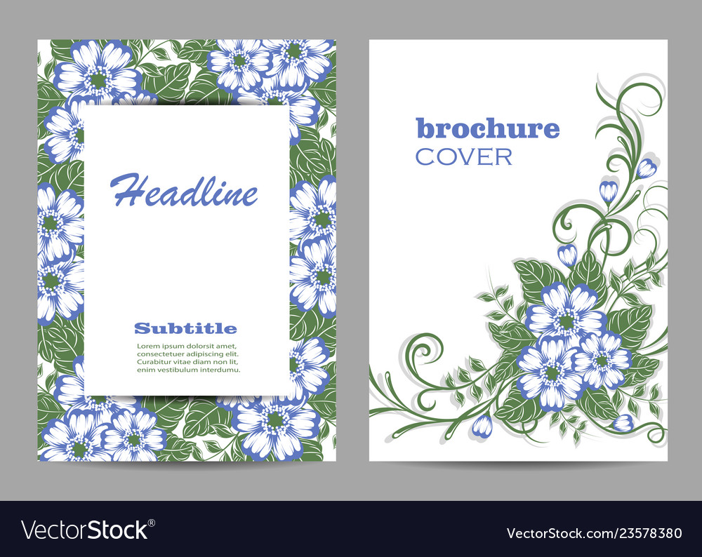 Floral brochure cover design beautiful floral