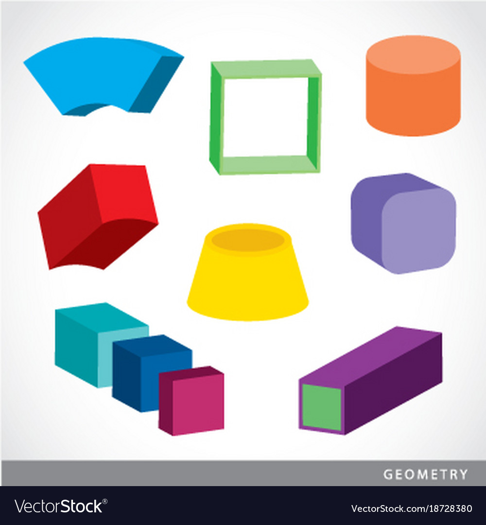 Geometric Shapes Platonic Solids Royalty Free Vector Image