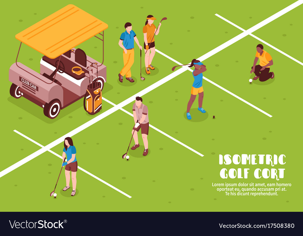 Golf cort vector image