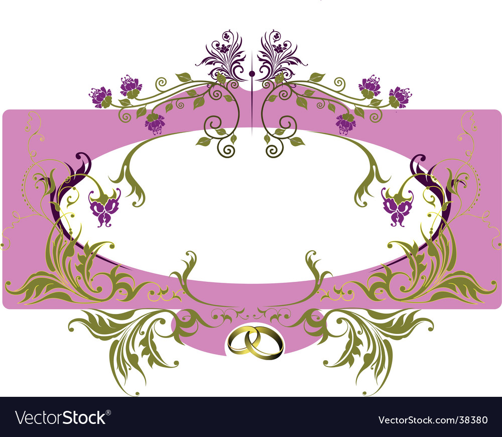 Greeting Card Frame Royalty Free Vector Image Vectorstock