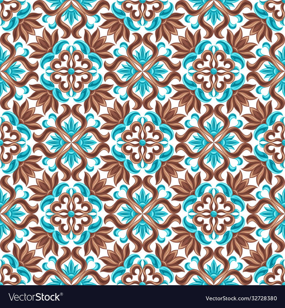 Italian ceramic tile seamless pattern