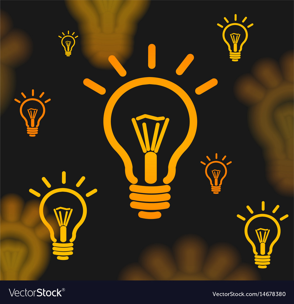 Lamp bulb icon background