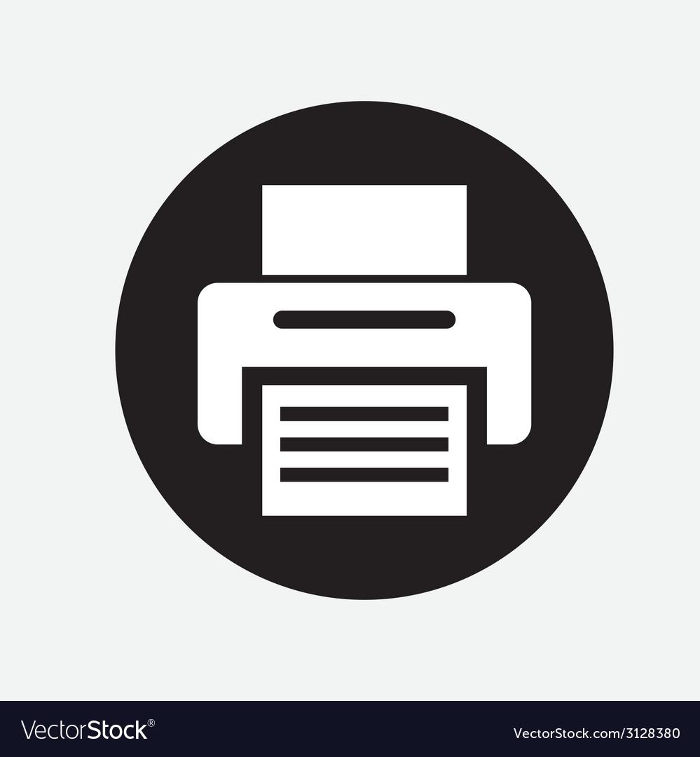 Printer design vector image