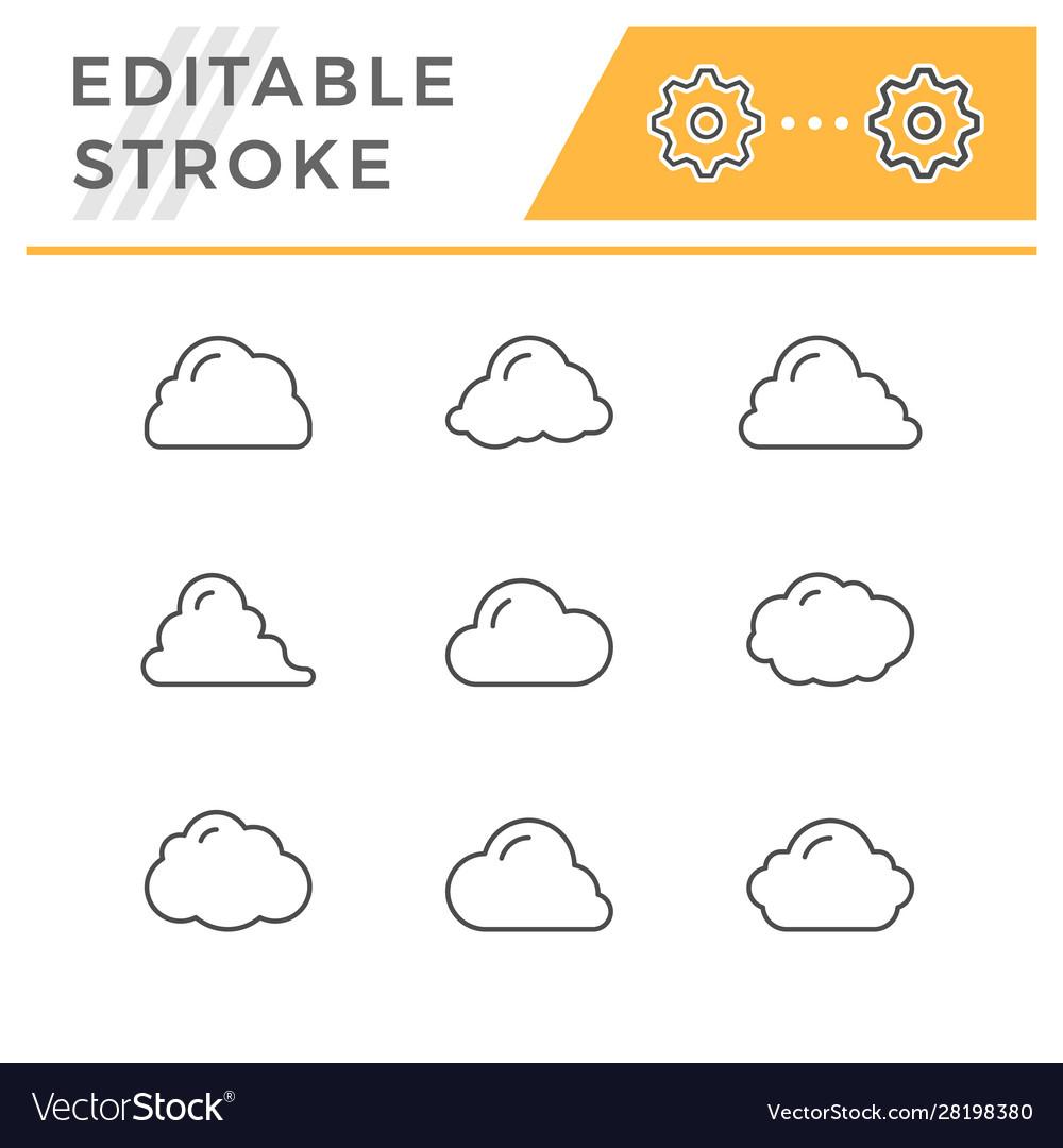 Set line icons cloud