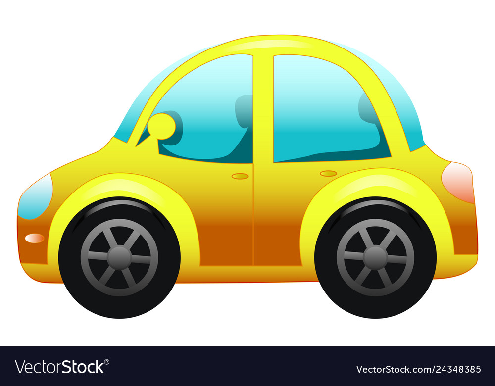 Cars On White Toy Car Cartoon Car Royalty Free Vector Image