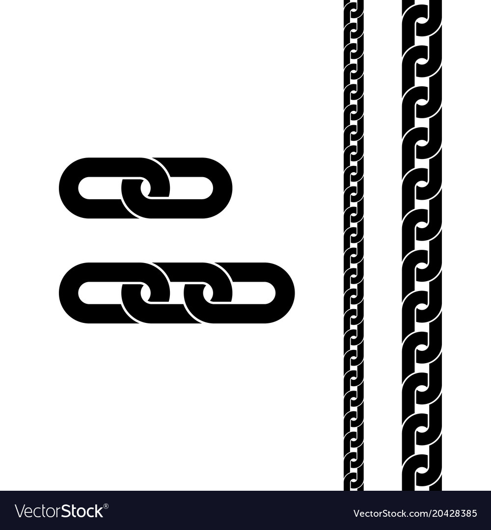 Chain black icon connection symbol for web site